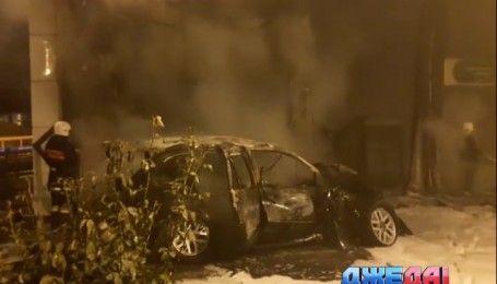 В Одессе неуправляемый BMW влетел в автозаправку