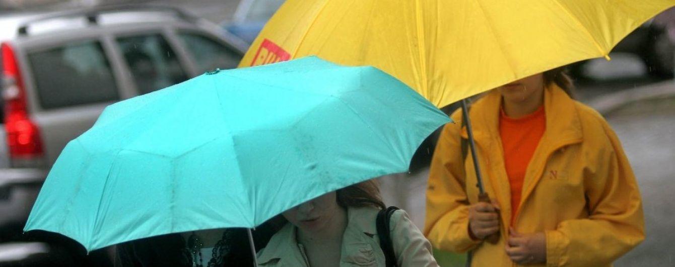 Половину України поливатимуть холодні дощі. Прогноз погоди на неділю