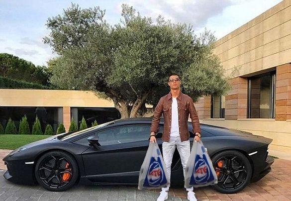 Кріштіану Роналду і Lamborghini меми