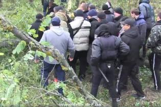 Під Києвом спалахнув конфлікт із забудовником: тітушки з бензопилками знищили старі дуби