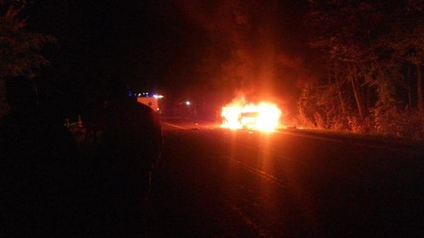 Масштабна ДТП з пожежею на Львівщині: п'яний водій протаранив чотири авто, загинула жінка