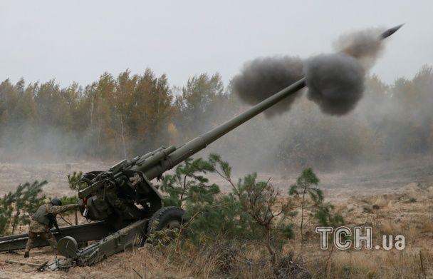 На Київщині українські артилеристи провели масштабні навчання з бойової стрільби