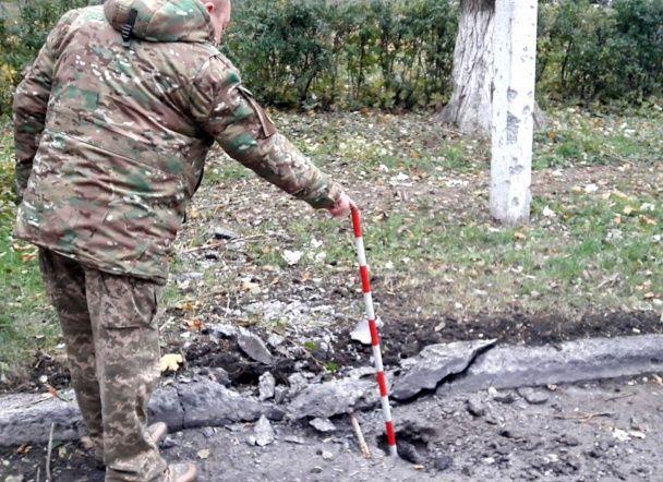 У Красногорівці біля лікарні та технікуму розірвалися випущені бойовиками міни й танкові снаряди