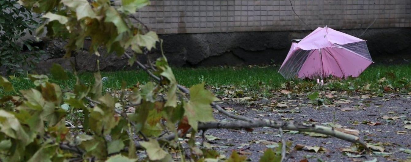 У Києві потужний вітер: КМДА радить триматись подалі від рекламних щитів та дерев