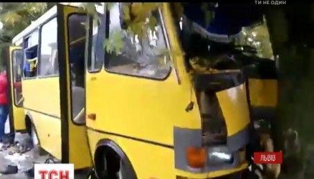 У Львові маршрутка з пасажирами врізалася у дерево