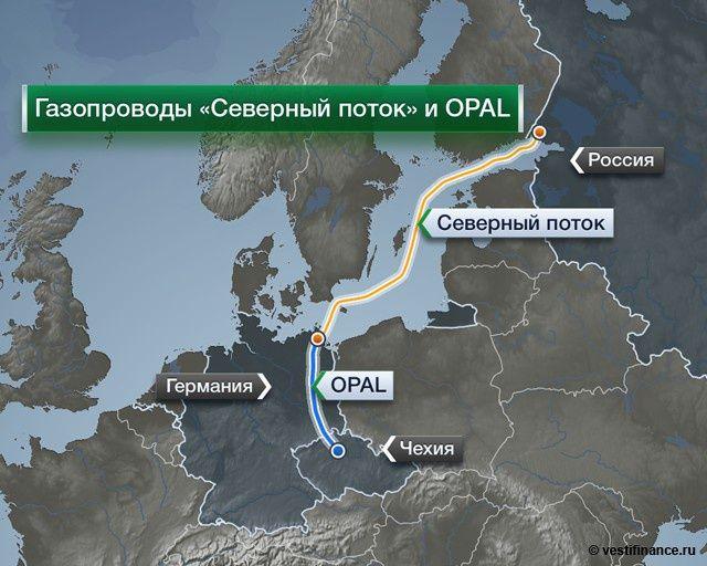 Північний потік і трубопровід OPAL