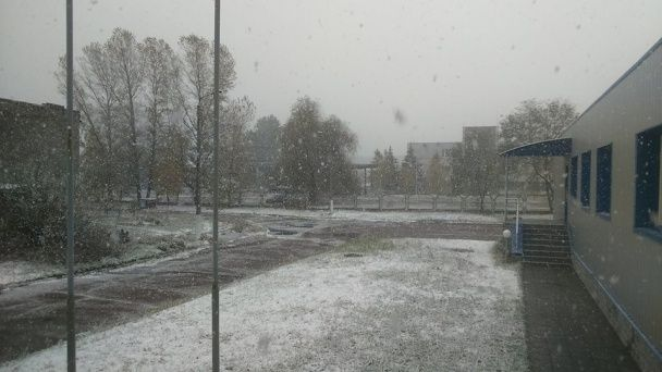 Місто на Київщині засипало рясним снігом, негода суне до столиці