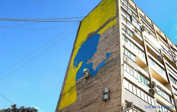 У Запоріжжі з'явився величезний мурал з зображенням Тоні Матвієнко