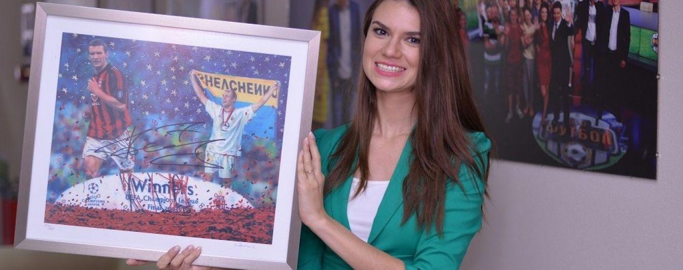 Намальованого Андрія Шевченка купили на благодійному аукціоні за 14 тисяч