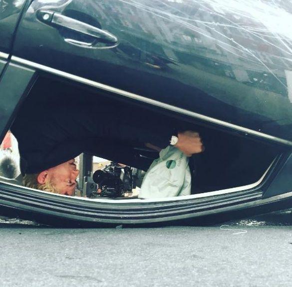 Орландо Блум в авто