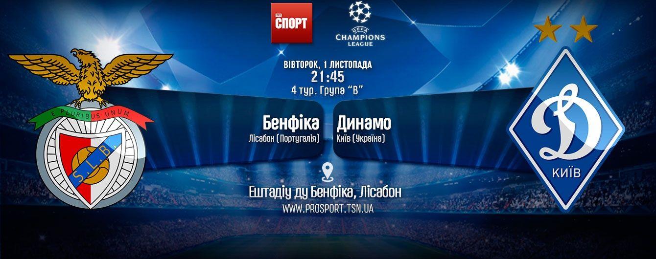 Бенфіка - Динамо - 1:0. Онлайн-трансляція матчу Ліги чемпіонів
