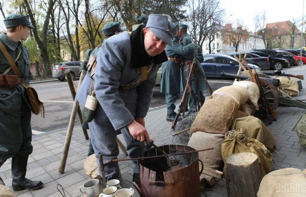 У Львові на річницю створення ЗУНР встановили блокпост Січових стрільців