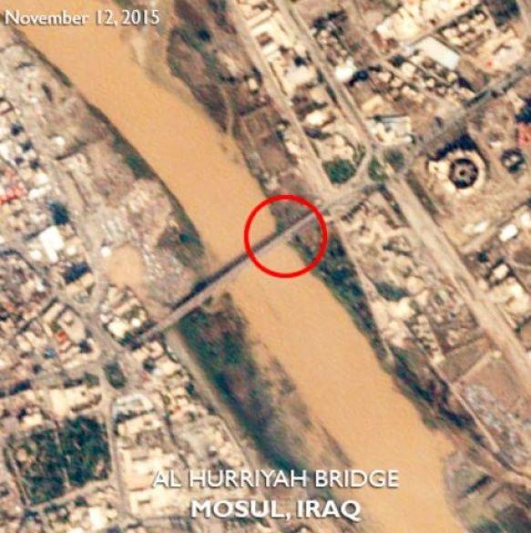 Мосул, знімки з супутника