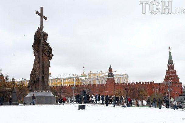 Приватизація історії: у Москві вся кремлівська рать відкрила пам'ятник київському князю Володимиру