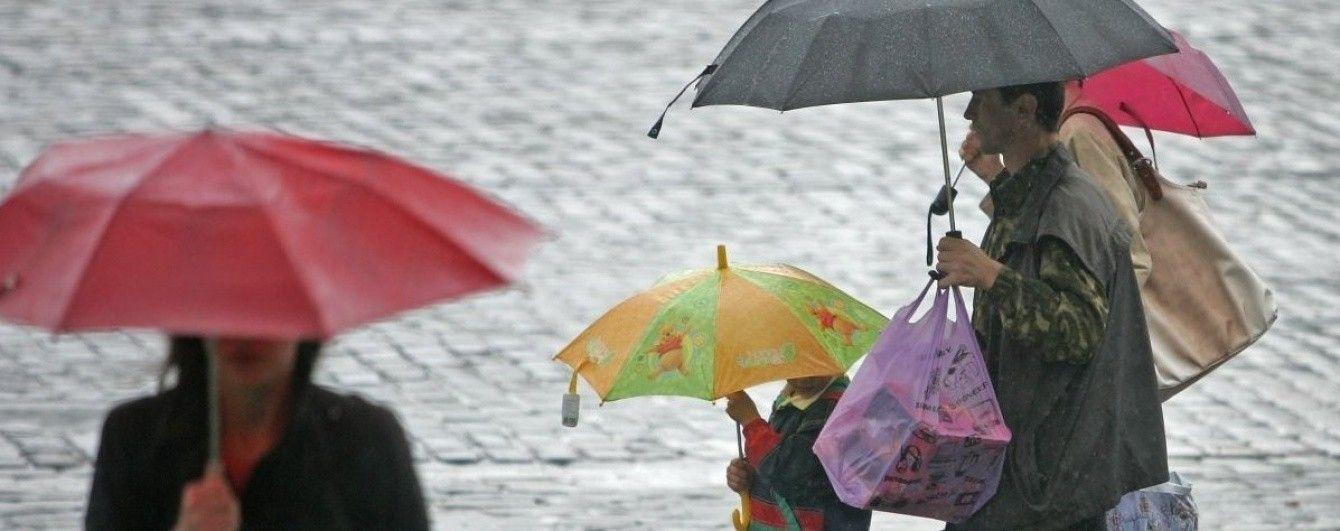 Синоптики попереджають про сильні зливи на Заході. Прогноз погоди на 6 листопада