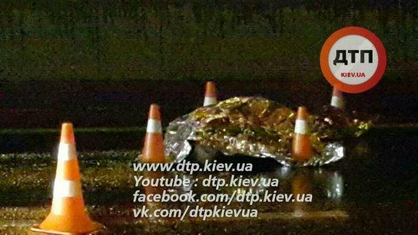 У Києві загинув чоловік, який через парі перебігав дорогу з шестирічним сином. Додано відео
