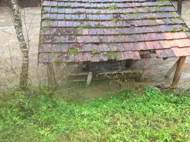 Негода на Закарпатті: висока вода затопила десятки дворів та розмила дороги