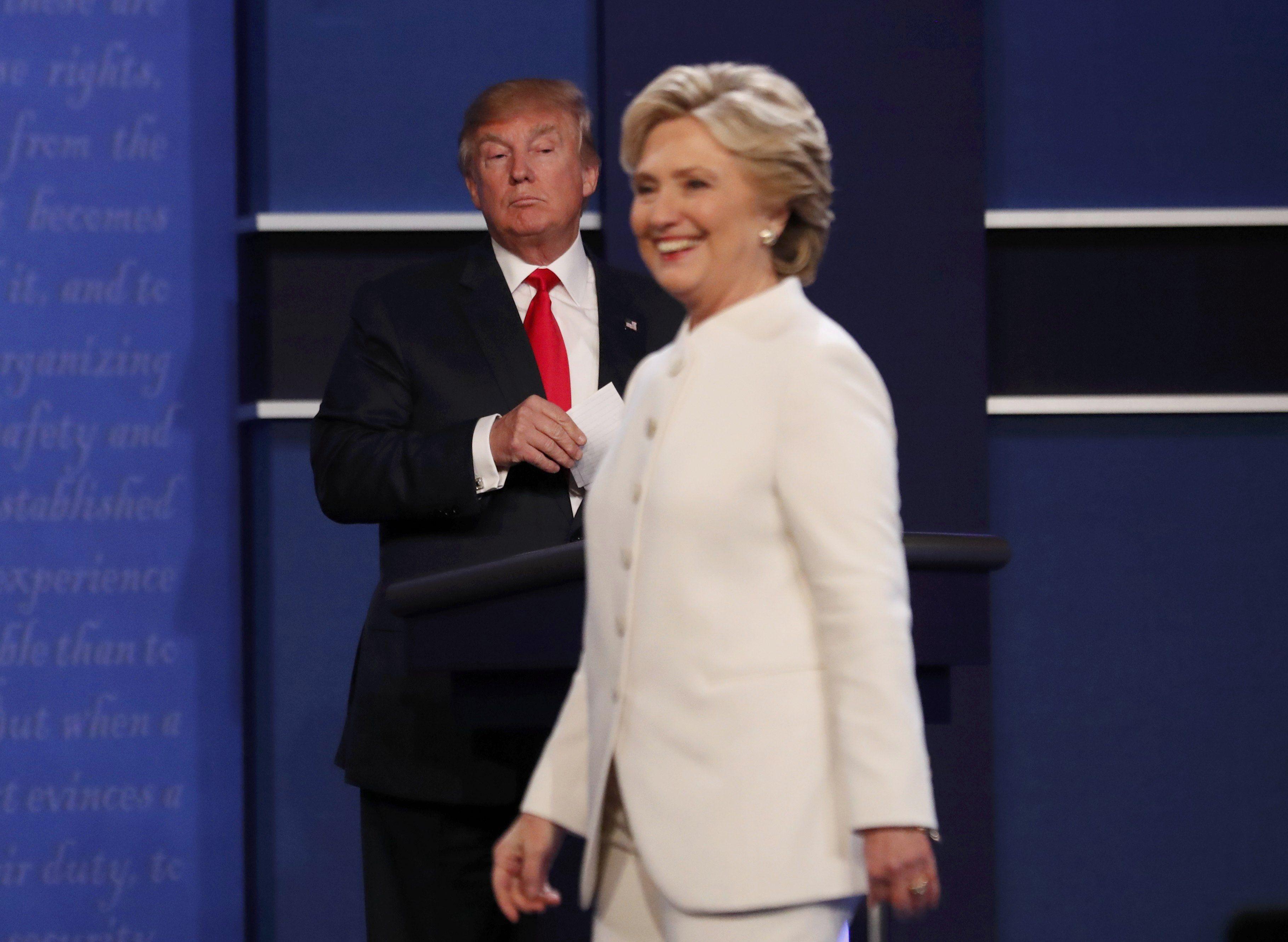 Клінтон і Трамп, дебати