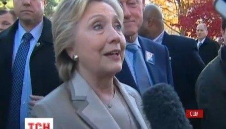 В штабе Хиллари Клинтон ожидают результатов голосования Пенсильвании, Северной Каролины и Флориды