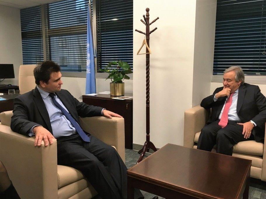Клімкін зустрівся з новообраним генсеком ООН