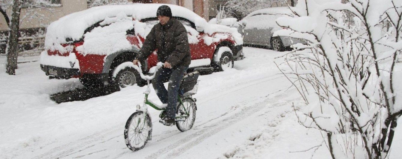 Україну протягом дня засипатиме снігом. Прогноз погоди на 13 листопада