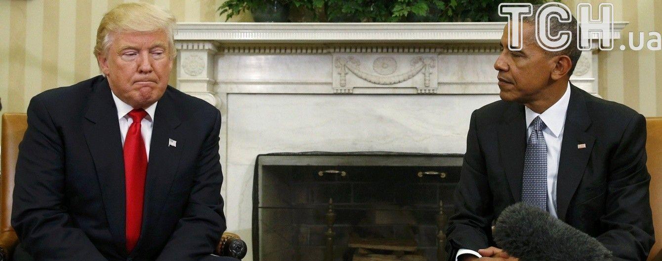 Обама попросив дати шанс Трампу