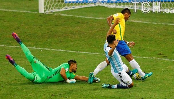 Бразилія розбила Аргентину у відборі на чемпіонат світу-2018. Дивись відео