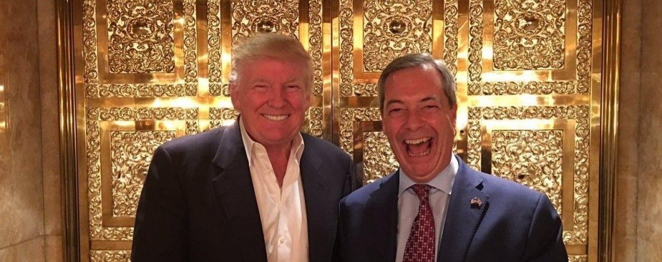 """""""Він буде хорошим президентом"""". Ідеолог Brexit зустрівся з Трампом"""