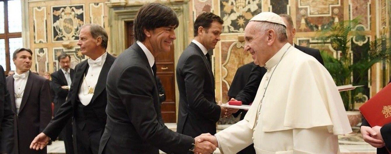 Збірна Німеччини побувала на прийомі у Папи Римського