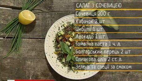 Салат із сочевицею – рецепти Сенічкіна