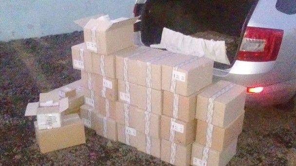 Стартові пакети, поповнення мобілок та цигарки. В зоні АТО затримали товарів на мільйони гривень