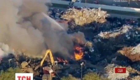 В Хьюстоне произошел масштабный пожар на свалке
