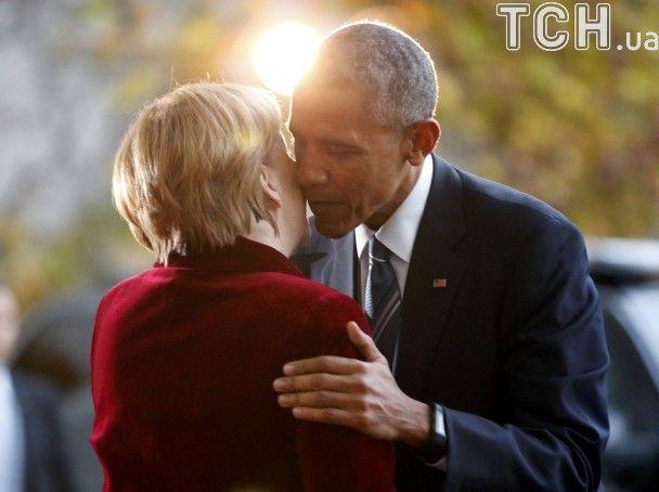 Обама під час незвично довгого візиту повечеряв з Меркель наодинці