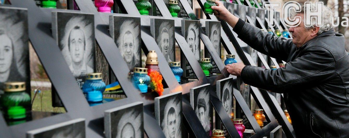 Учасники протестів під НБУ намагались влаштувати акцію під меморіалом Небесної сотні
