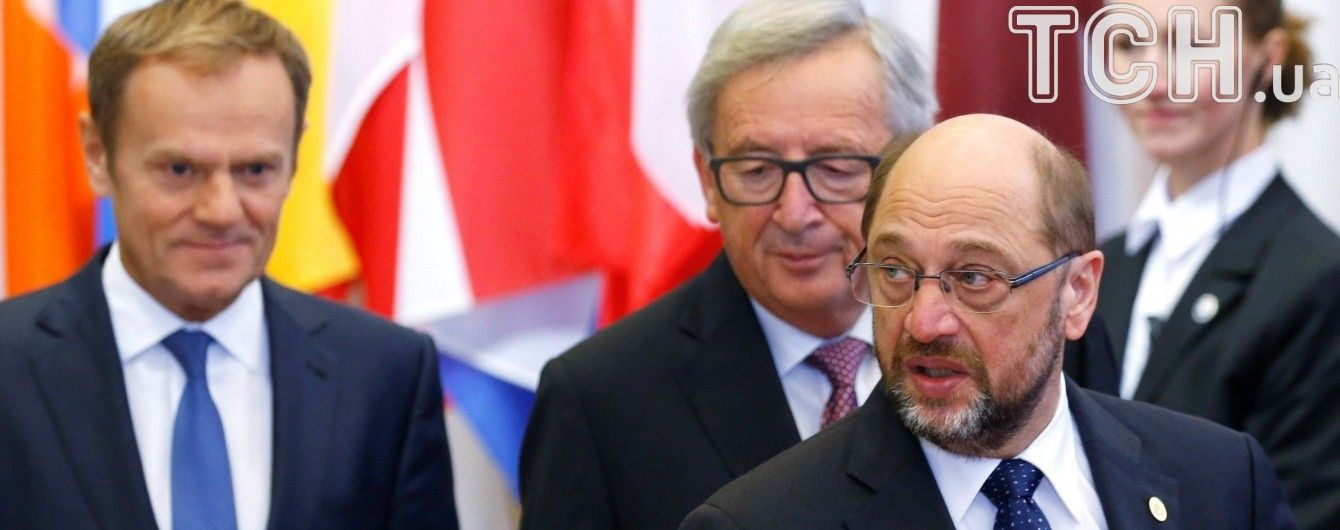 На саміті Україна – ЄС Шульц назвав причини зволікання з безвізом, а Туск заговорив українською
