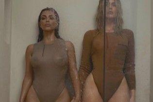 Кім та Хлое Кардашян засвітили чималі сідниці у боді від Каньє Веста