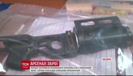 В авто мужчины, который недавно вернулся из зоны АТО, полиция обнаружила арсенал оружия