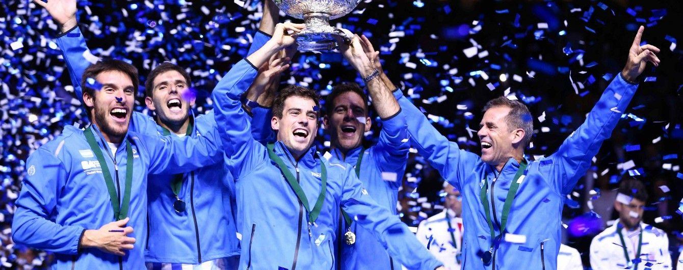 Аргентинские теннисисты впервые в истории выиграли Кубок Дэвиса