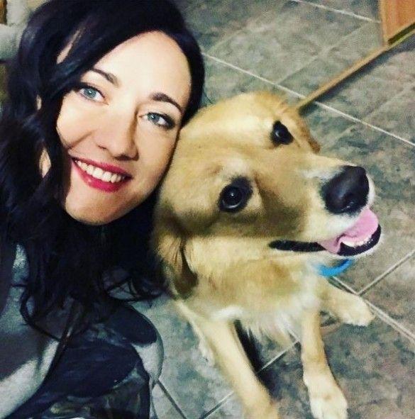 Вітвіцька із собакою Мелом_1