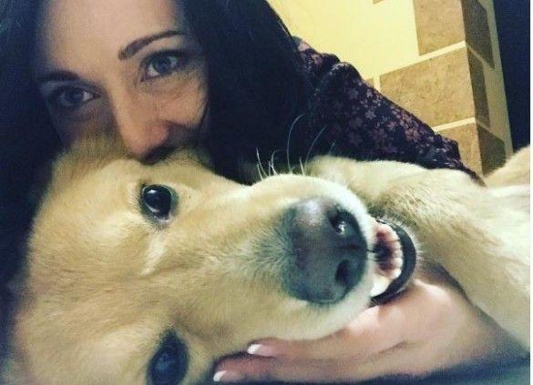 Вітвіцька із собакою Мелом_2