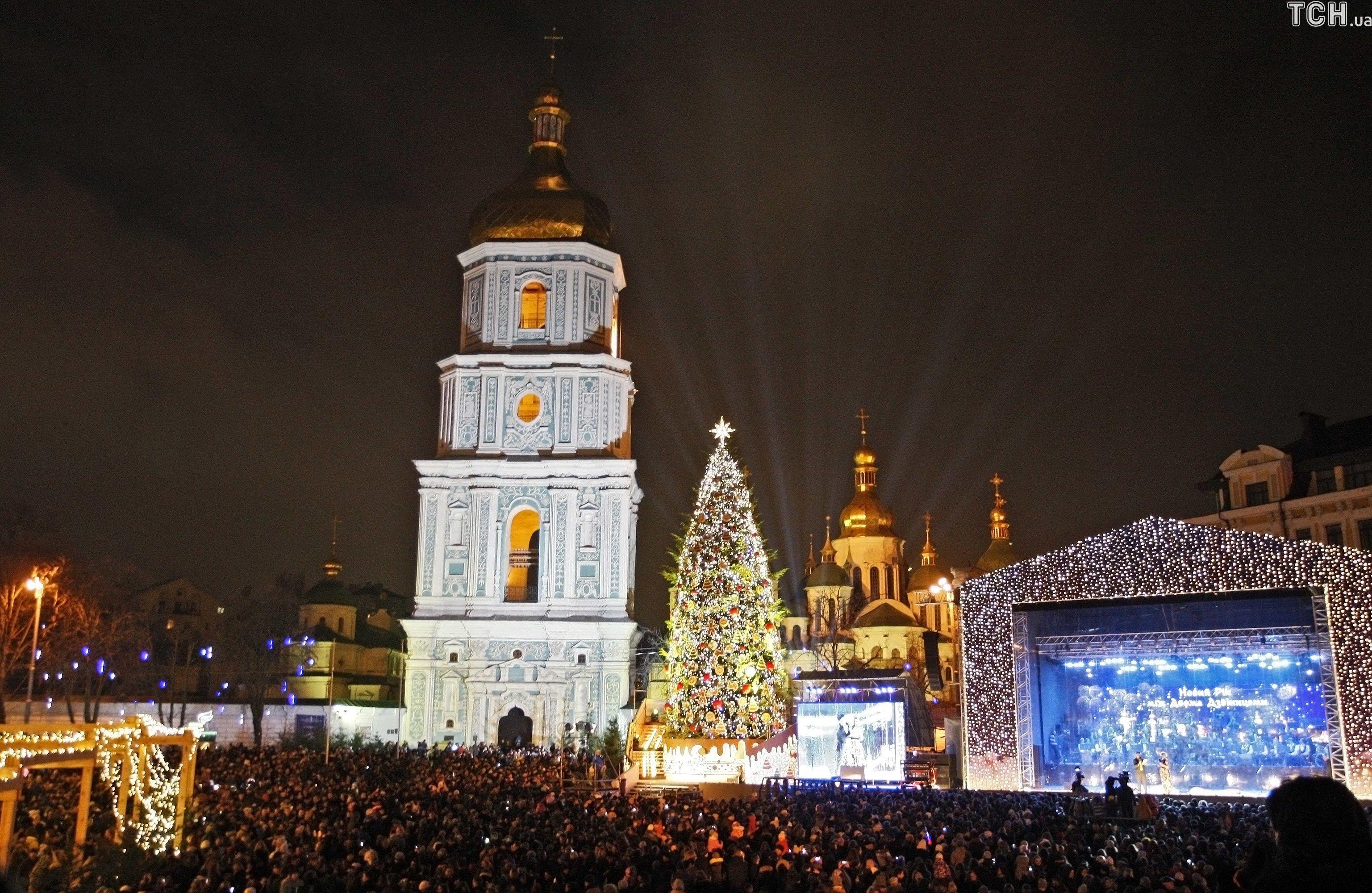 Київ, ялинка, Новий рік, Різдво
