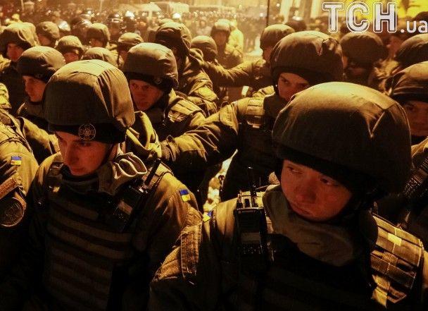 Нацгвардия на страже АП и националисты. Reuters показал митинг в Киеве