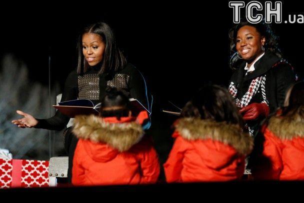 Обама востаннє запалив різдвяну ялинку у Вашингтоні