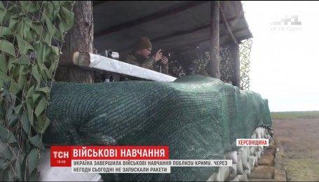 Военные провели второй день учений на Херсонщине