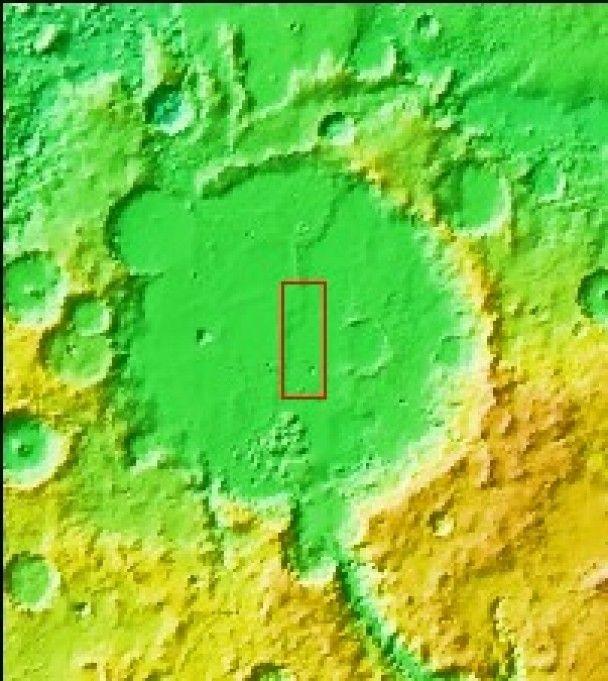 NASA зробило знімок одного з кратерів на Марсі
