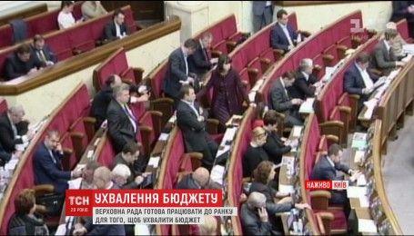 Довга ніч у Верховній Раді: депутати готові працювати до ранку, щоб ухвалити новий бюджет