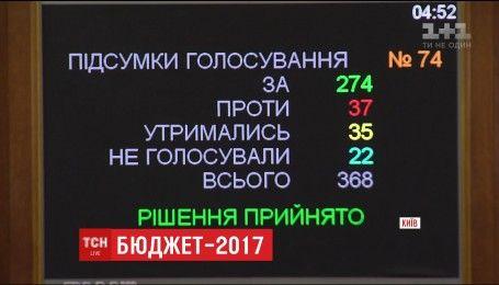 Новый бюджет: ВР приняла главный финансовый документ Украины на 2017 год