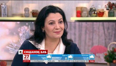 """Іванна Климпуш-Цинцадзе у студії """"Сніданку з 1+1"""""""