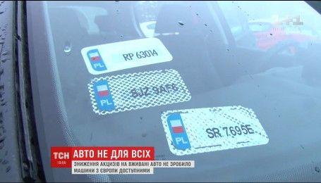 Украинцы так и не смогли покупать авто дешевле благодаря сниженным акцизам