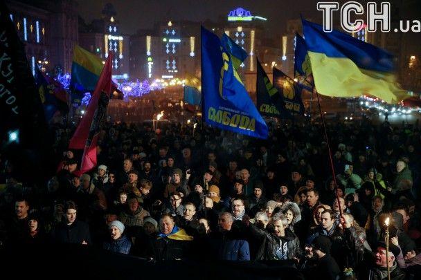 Смолоскипна хода та віче націоналістів. Як у Києві відзначили день народження Бандери